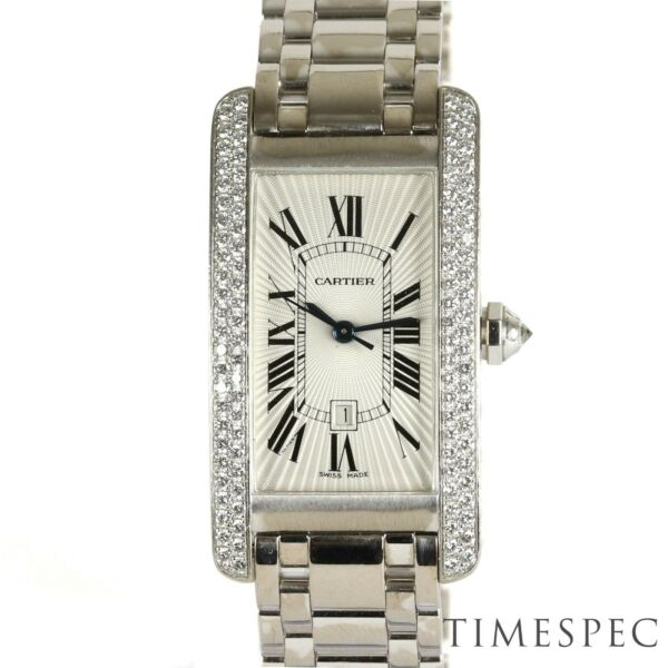 Cartier Tank Americaine Midi Size Diamond Set Watch