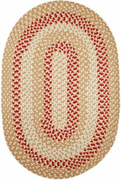 Manhattan Durable Country Cottage Home Classic Braided Rug Natural MA54 $50.00