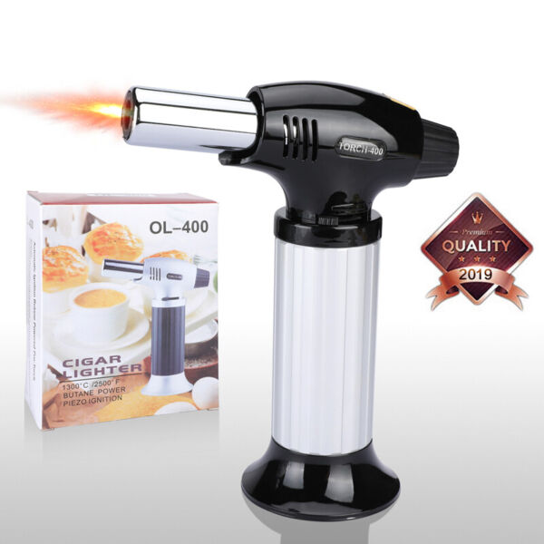 Cooking Torch CremeBrulee Culinary Food Blow Kitchen Butane Flame Lighter BBQ