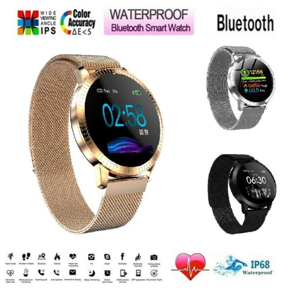Waterproof Smart Watch Heart Rate Bracelet Women Gift For iPhone Android Samsung $29.99