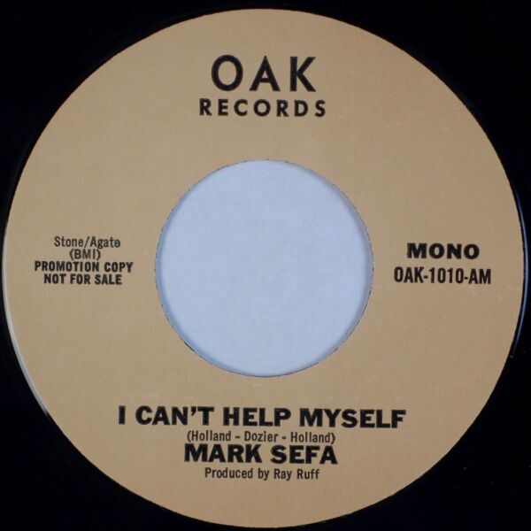 MARK SEFA: I Can't Help Myself Holland Dozier Soul Country Cover 45 VG $25.00