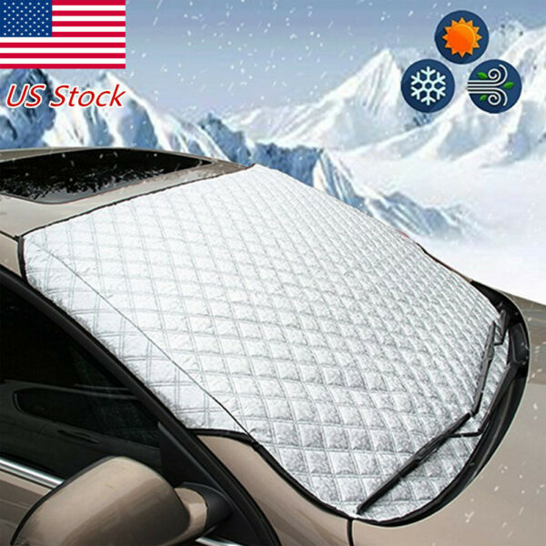 Auto Car Windshield Snow Sun Cover Ice Dust Frost Winter Protector Truck SUV USA