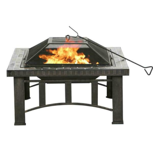 Wood Burning Fire Pit Outdoor Heater Backyard Patio Fireplace Black Friday Sale
