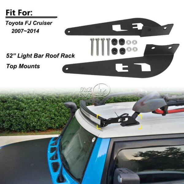 52 inch Straight Curved LED Light Bar Mounting Brackets For TOYOTA FJ CRUISER