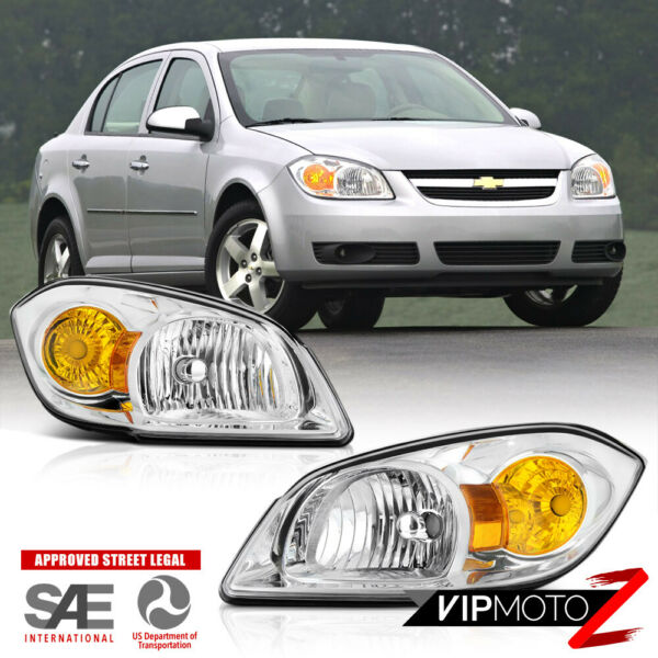 05-10 Chevy CobaltG5 Pursuit PAIR Left & Right Side Replacement Headlight Lamp