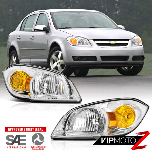 05 10 Chevy Cobalt G5 Pursuit PAIR Left amp; Right Side Replacement Headlight Lamp
