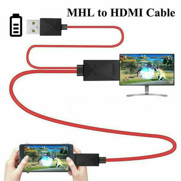 MHL Micro USB to HDMI HD TV Cable Adapter 1080P For Samsung Android Cell Phone