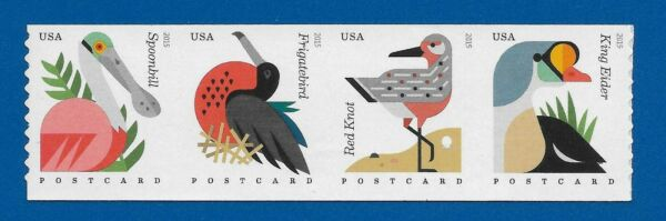 US Coastal Birds 4995 98 Strip of 4 Coil Stamps Mint Never Hinged 4995 4998
