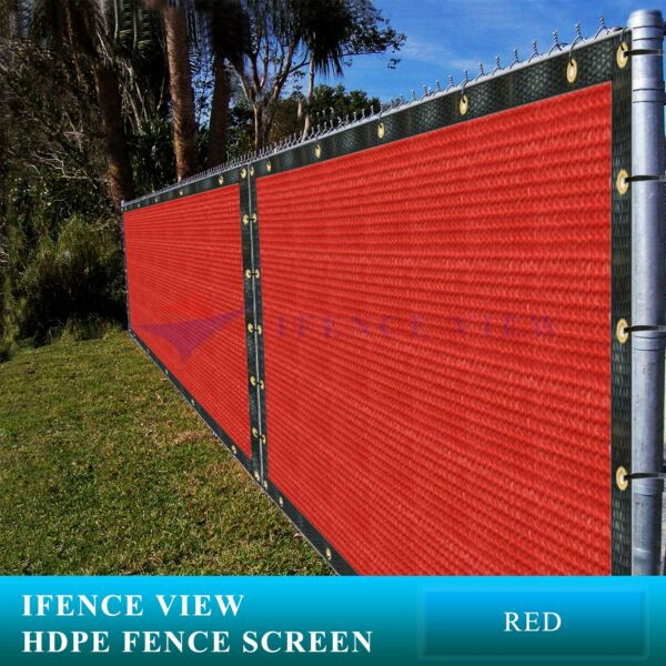 Ifenceview 11FT Width Red Fence Privacy Screen Net Mesh Awning Canopy Patio Top