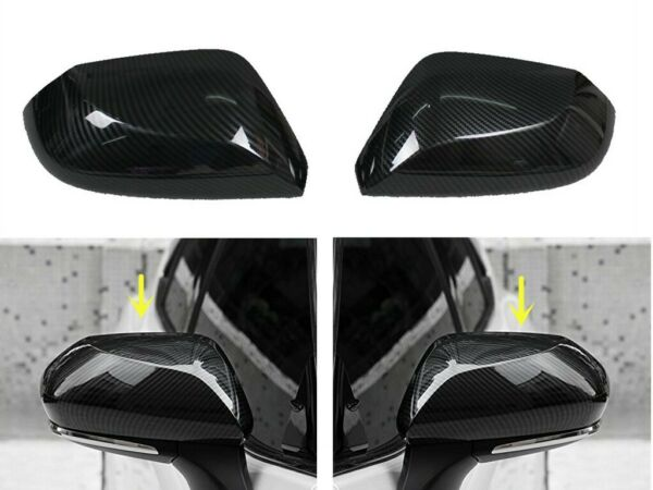 Carbon Fiber Side Door Mirror Cover Covers Fit 2018 2019 2020 Toyota Camry