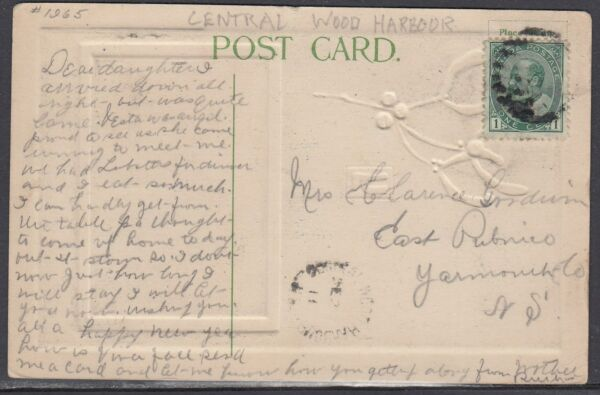 Canada Central Wood Harbour NS Split Ring Cancel on Card $1.99