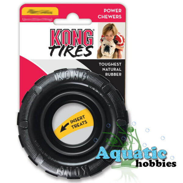 Kong Tires Large Toughest Natural Rubber Toy Dog Puppy Power Chewers