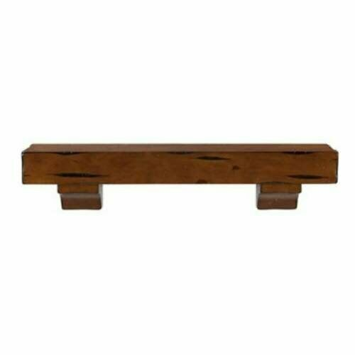 Pearl Mantels 412-48 Shenandoah Pine 48-Inch Fireplace Mantel Shelf Unfinished