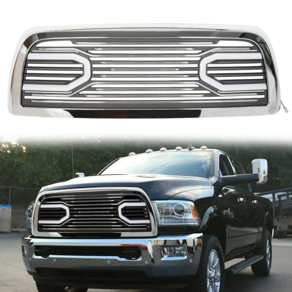 For 10-18 Dodge Ram 2500 3500 Big Horn Chrome Grille &Replacement Shell & Lights