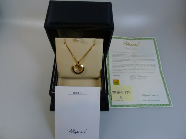 Chopard Pendant 18K-Y Gold Happy Diamond 0.30ct Coeur-L with Double 31