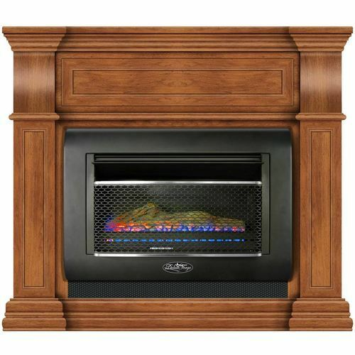 Duluth Forge Mini Hearth Ventless Gas Wall Fireplace 26000 BTU Toasted Almond