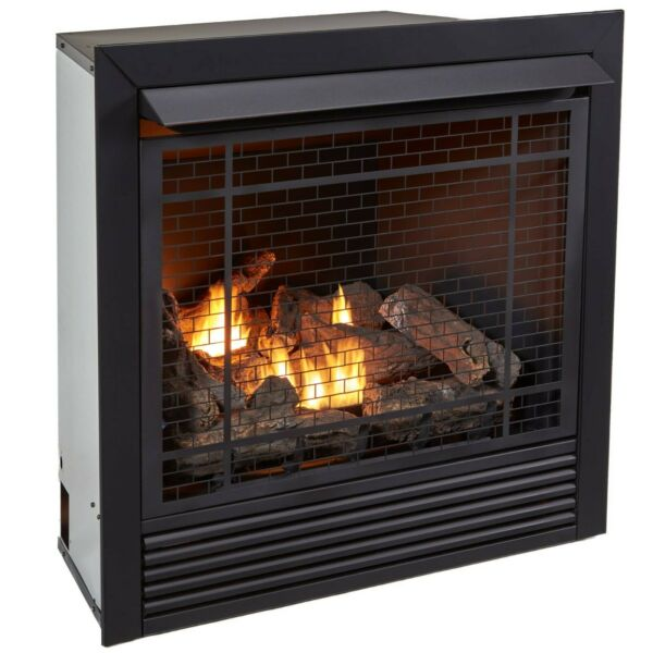 Duluth Forge FDI32R Ventless Gas Fireplace Insert Duel Fuel 32K BTU With Remote