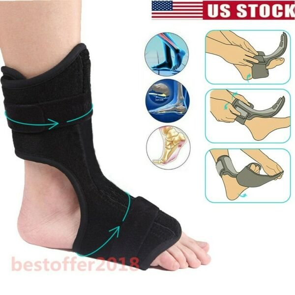 Night Foot Drop Orthosis Brace Ankle Plantar Fasciitis Splint Support Correction