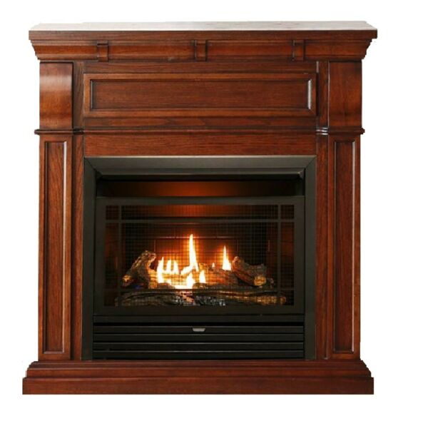 Duluth Forge Dual Fuel Ventless Gas Fireplace With Mantel - 26000 BTU