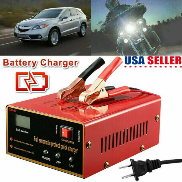 Maintenance-free Battery Charger 12V24V 10A 140W Output For Electric Car USA