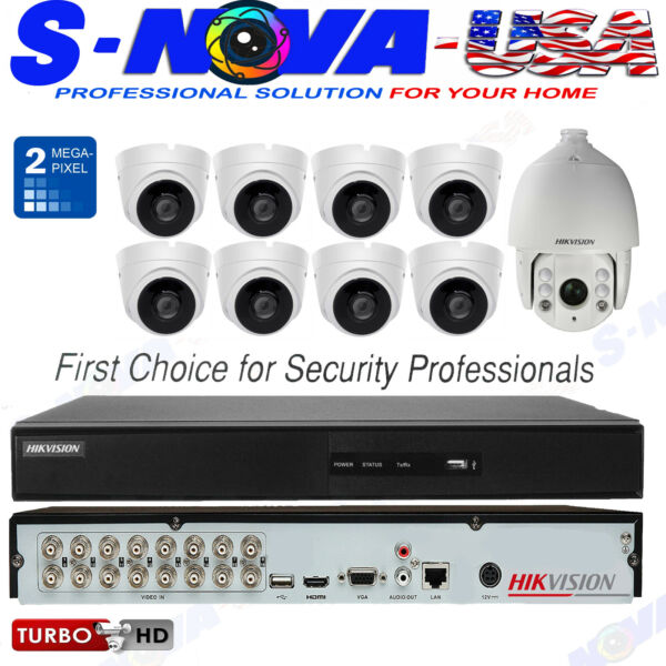 Hikvision Security System KIT 8CH Channel  2MP Dome & PTZ Camera 3TB  (ORIGINAL)