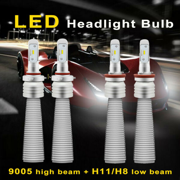 4x 9005 H11 CREE LED headlight Hi low Beam Bulb for Toyota Camry 2015 2016 2017