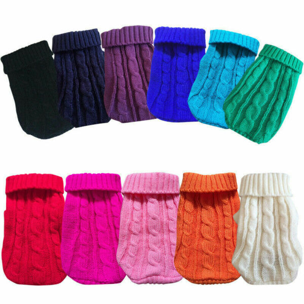 Pet Dog Clothes Puppy Pet Cat Sweater Warm Jacket Coat For Small Dogs Chihuahua❥ $4.99