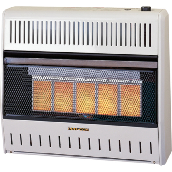 ProCom Heating Reconditioned Liquid Propane Ventless Plaque Heater - 25000 BTU
