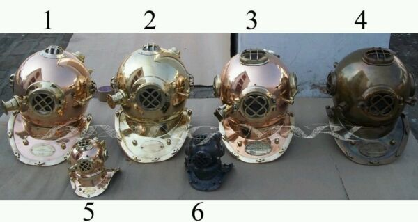 Lot of 6 pieces full size and 2 mini divers helmet diving divers helmet 4 gift