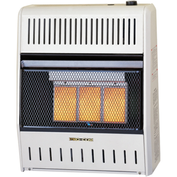 ProCom Heating Reconditioned Natural Gas Ventless Infrared Heater 3 Plaque