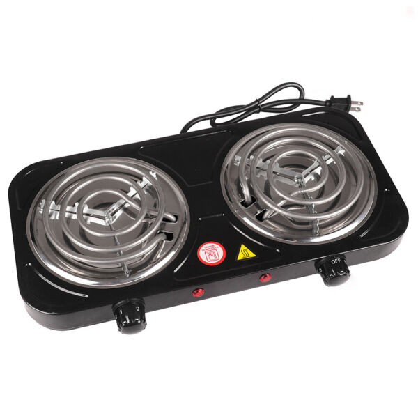 Portable Electric Double Burner Hot Plate Heating Cooking Stove Dorm Camping