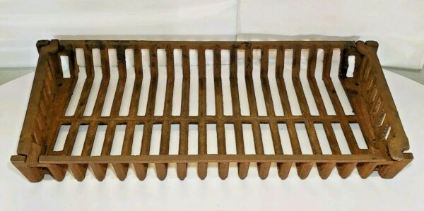 ANTIQUE Vintage 3 PIECE CAST IRON FIREPLACE INSERT FIRE BOX LOG  BASKET GRATE