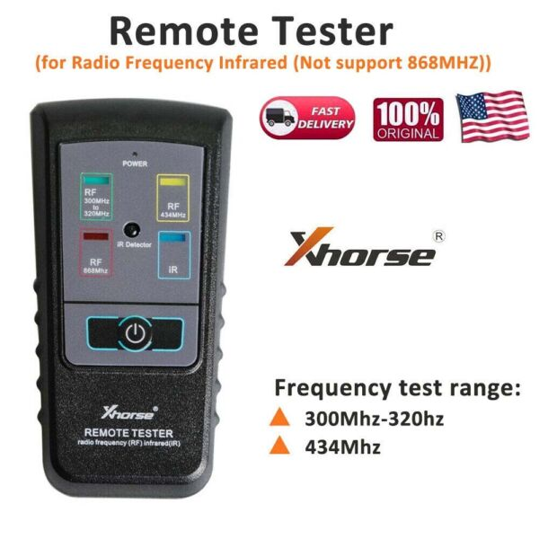 Xhorse Remote Tester for Radio Frequency Infrared 434Mhz 300-320hz
