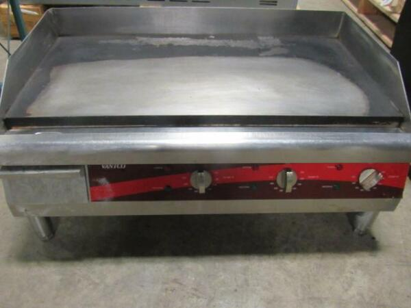 30quot; Avantco Electric Commercial Countertop Steel Flat Top Griddle Grill
