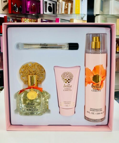 Vince Camuto Bella 4 pc Eau De Parfum Gift Set For Women * New In The Box *