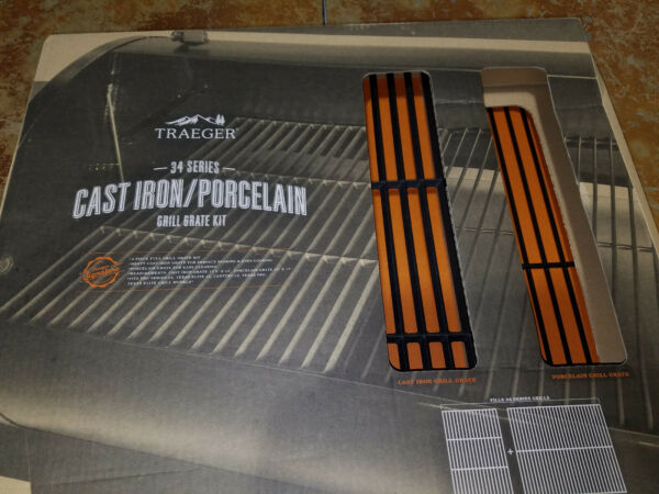 Traeger Cast Iron And Porcelain Grill Grate Kit For Pellet Pro Series 34 BAC367