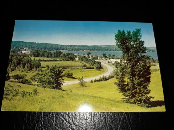 1960's Crystal Lake Beulah Michigan Postcard by Rader of Glen Arbor