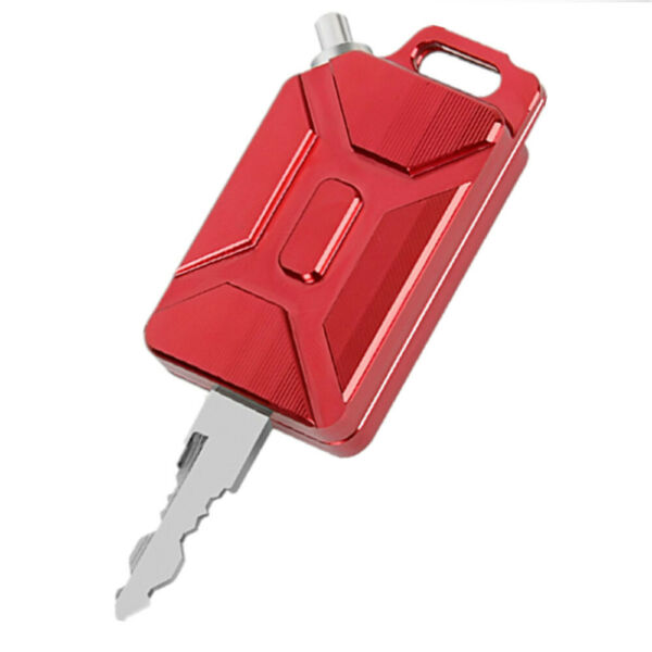 3D CNC Oil Tank Shape Motorcycle Key Cover Keychain Red