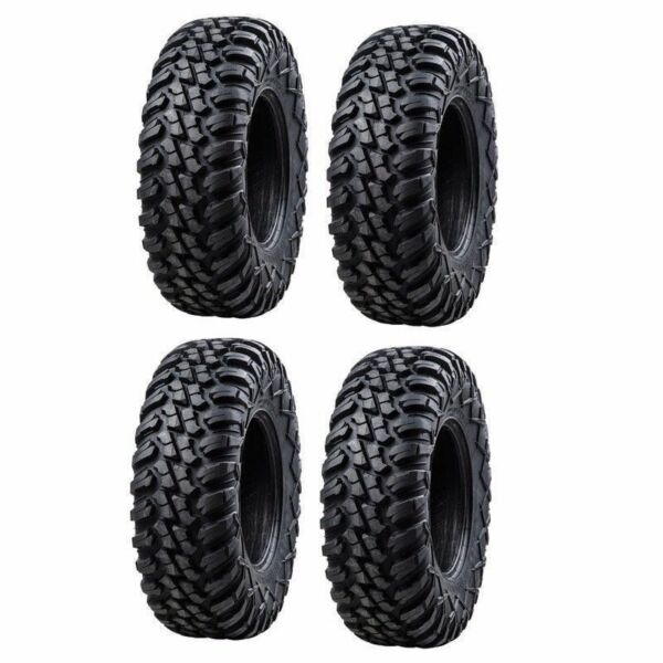 4-Tusk Terrabite Radial 8 Ply UTV Tire Set (4 Tires) 25x8-12 Dot Road