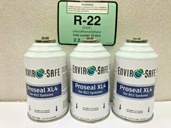 R22 R 22 Refrigerant 22 Proseal XL4 Super Leak Stop For R22 3 4 oz. Cans $55.02