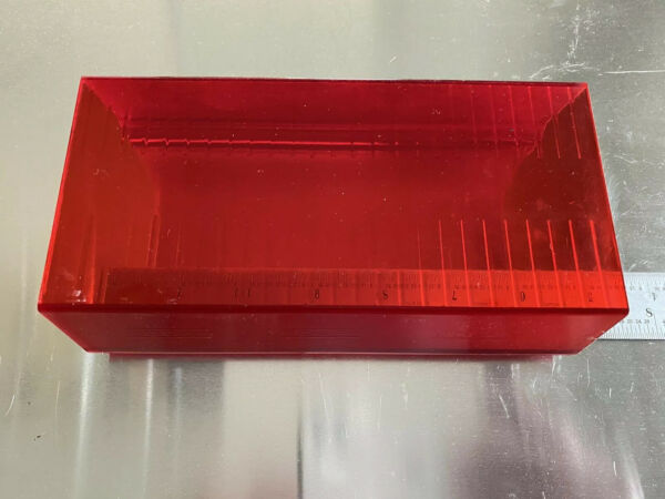 Whelen 9M 9U Freedom EDGE 9000 Lightbar LENS RED OPTIC CORNER 6.562quot;