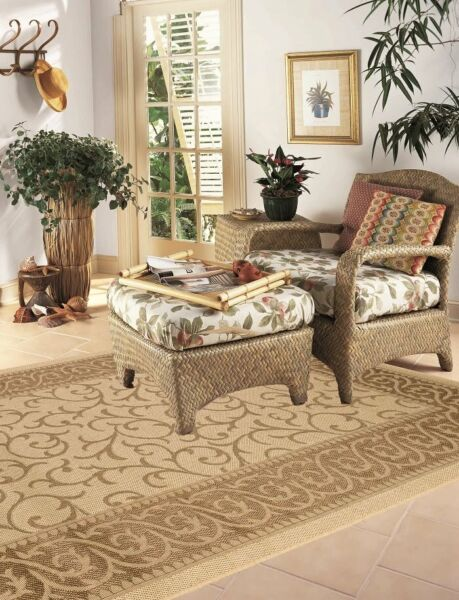 Indoor Outdoor Rugs Flatweave Contemporary Patio Pool Camp and Picnic Carpets