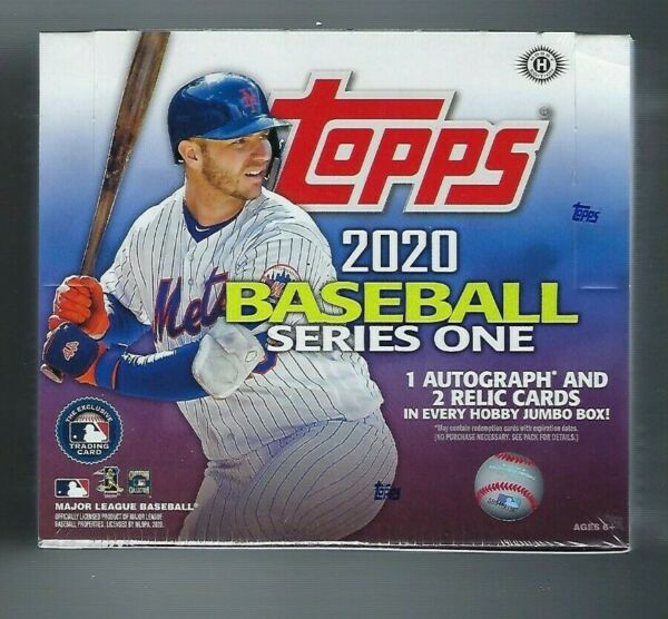 2020 Topps Series 1 Baseball  JUMBO Box + 2 Silver Packs
