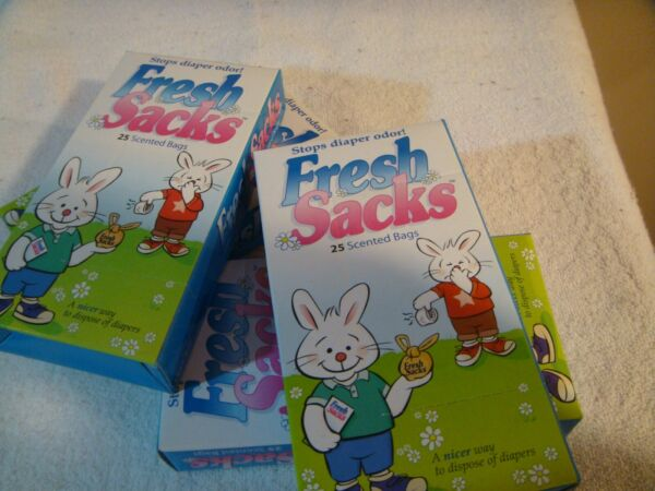 Fresh Sacks Scented Bags for Diapers lot of 4 boxes $16.95