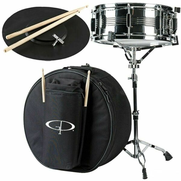 GP Percussion SK22 Complete Student Snare Drum Kit New