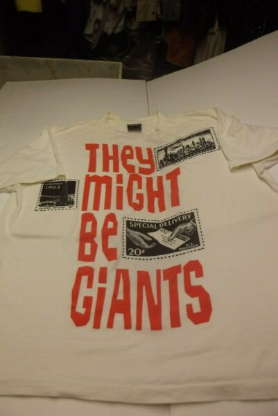 THEY MIGHT BE GIANTS Stamps VINTAGE 1980s T-SHIRT Size XL RARE