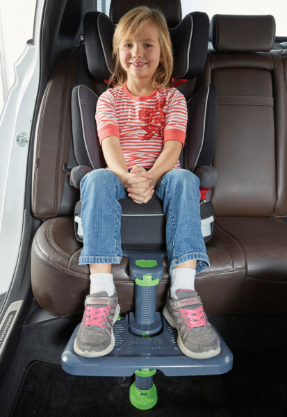 KneeGuardKids3 Car Seat Footrest Booster Seat Footrest Gray Latest Version $43.99