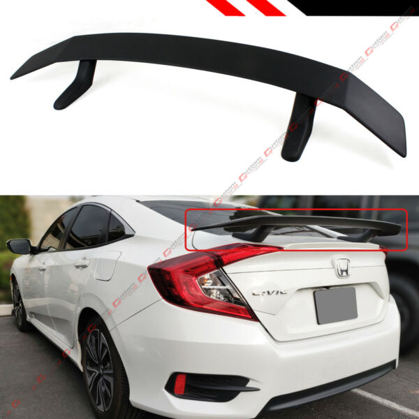 FOR 2016-2020 HONDA CIVIC 10TH GEN SEDAN COUPE Si STYLE REAR TRUNK SPOILER WING