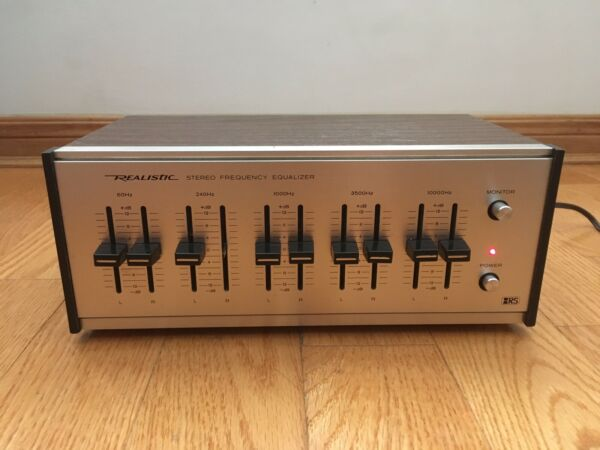 Realistic Radio Shack 31-1987 5-Band Stereo Frequency Equalizer EQ Wood Korea