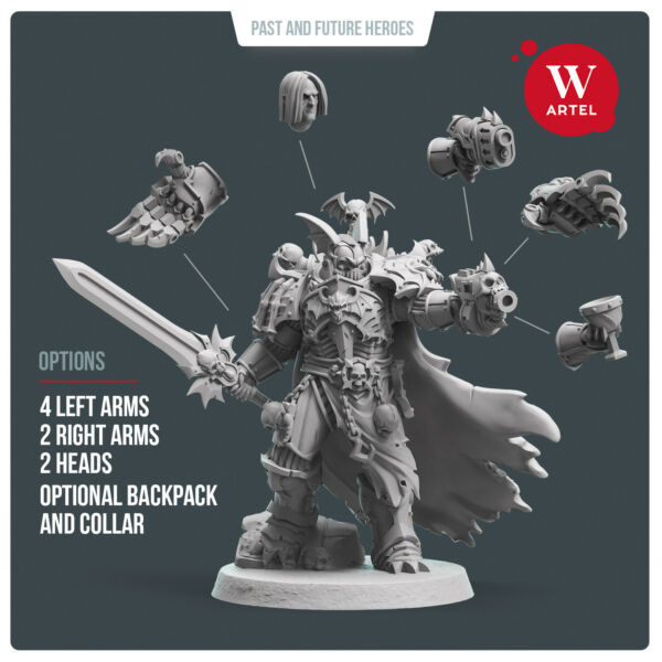 Dread Lord by Artel W - Night Lords Chaos Space Marine Primarch Konrad Captain